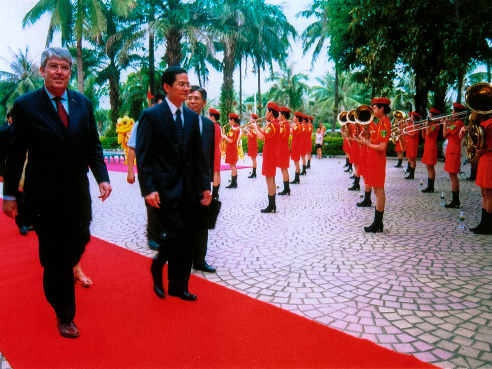 Ceremonial reception. Zhanjiang 2005