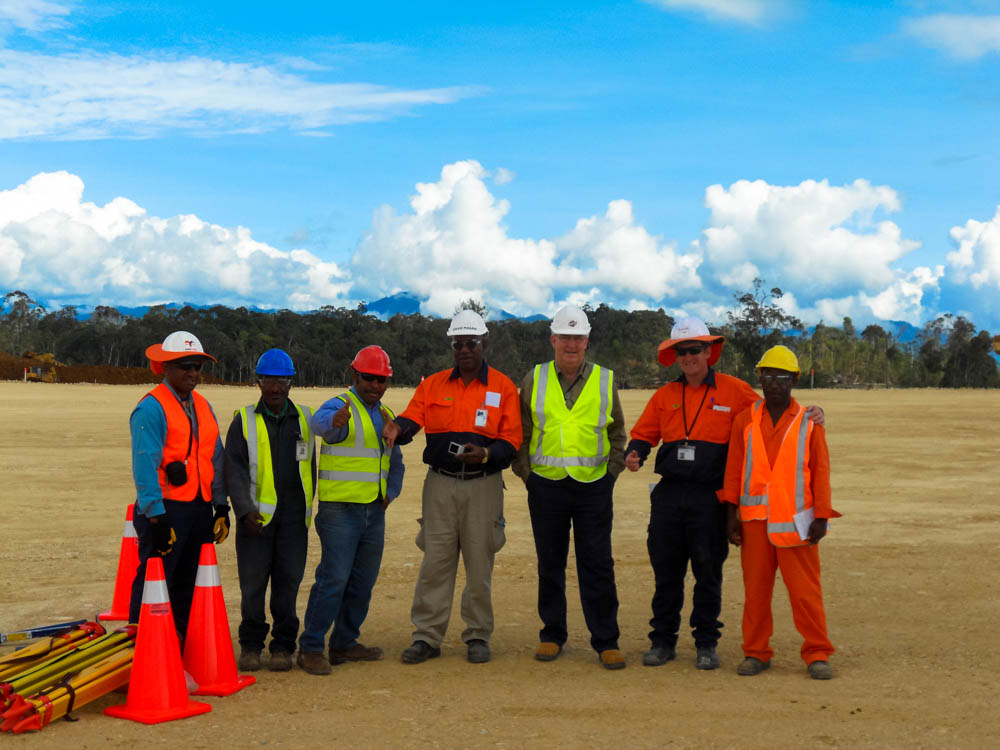On the site for the first PNG LNG gas conditioning facility
